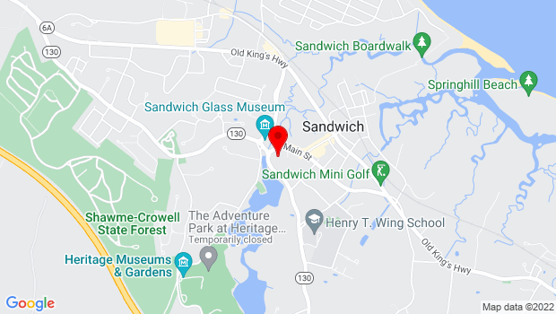 Google Map of 136 Main St, Sandwich, MA 02563