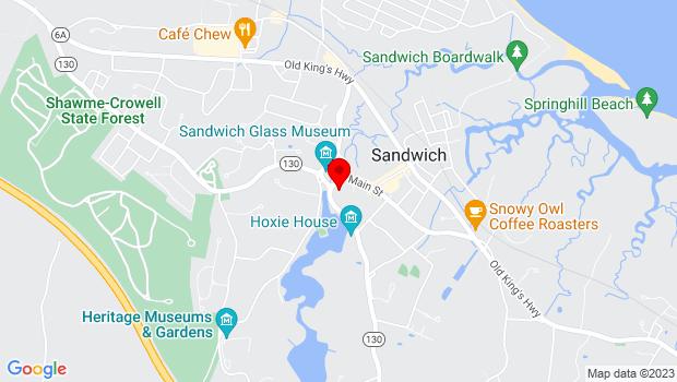Google Map of 136 Main Street, Sandwich, MA 02563