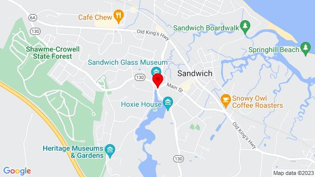 Google Map of 130 Main St, Sandwich, MA 02563