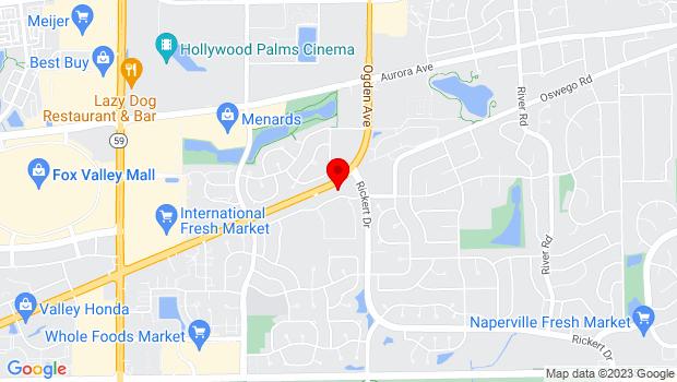 Google Map of 1635 Emerson Lane, Naperville, IL 60540
