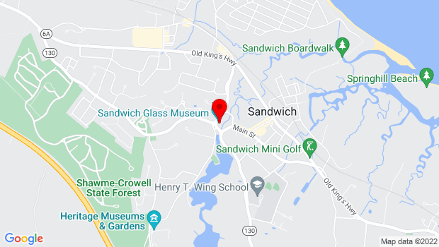 Google Map of 129 Main Street, Sandwich, MA 02563