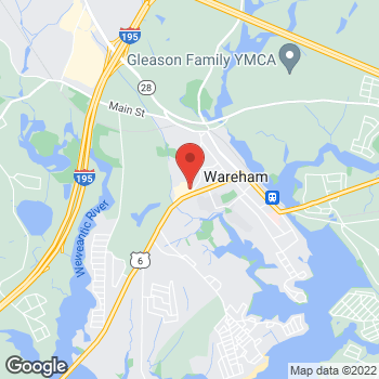 Map of Rite Aid at 121 Marion Road, Wareham, MA 02571