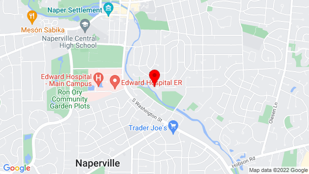 Google Map of Naperville, IL 60540