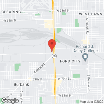 Map of Guitar Center Lessons at 7250 South Cicero Ave., Bedford Park, IL 60629