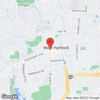 Map of Liberty Group Travel at 994 Farmington Ave, West Hartford, CT 06107