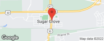 Map of 110 S Sugar Grove Pkwy in Sugar Grove