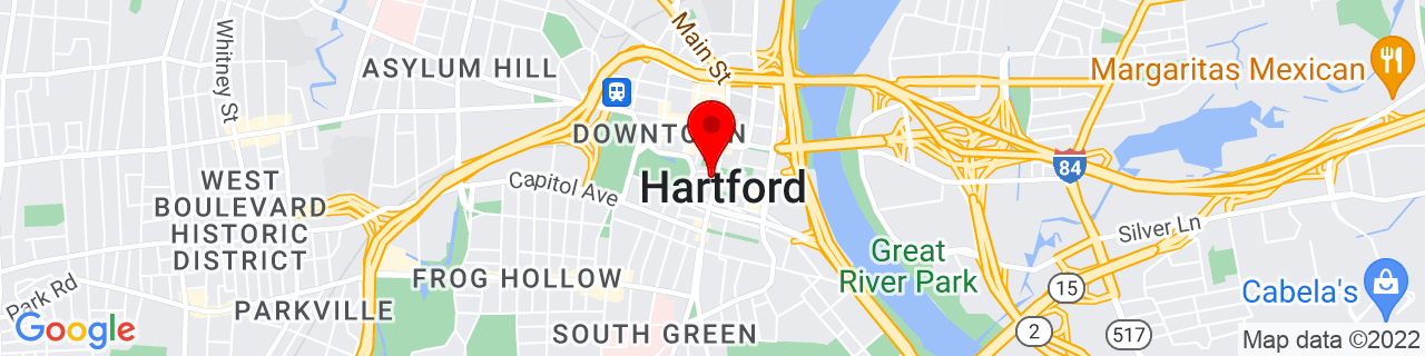 Google Map of 41.76391666666667, -72.67430277777778