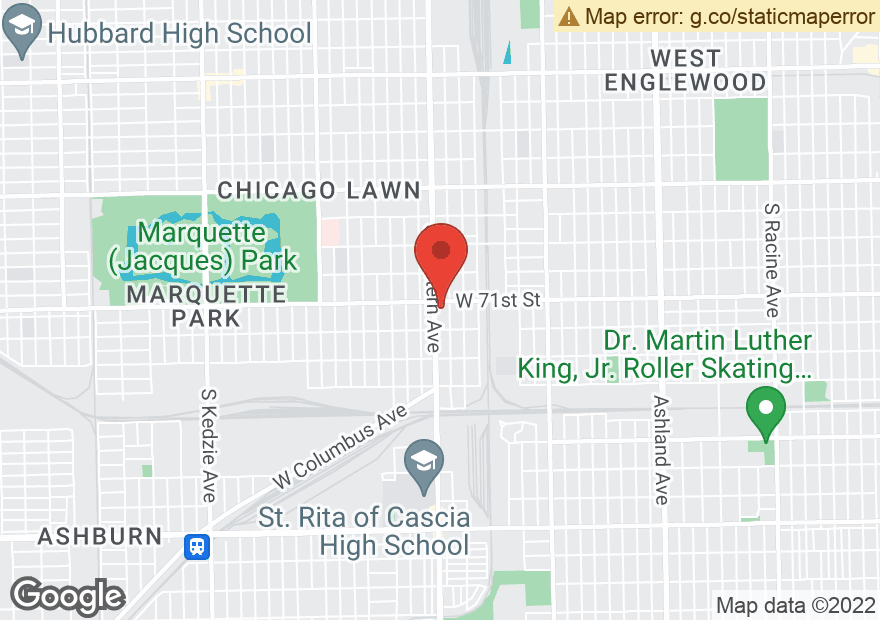 Google Map of 7111 S WESTERN AVE