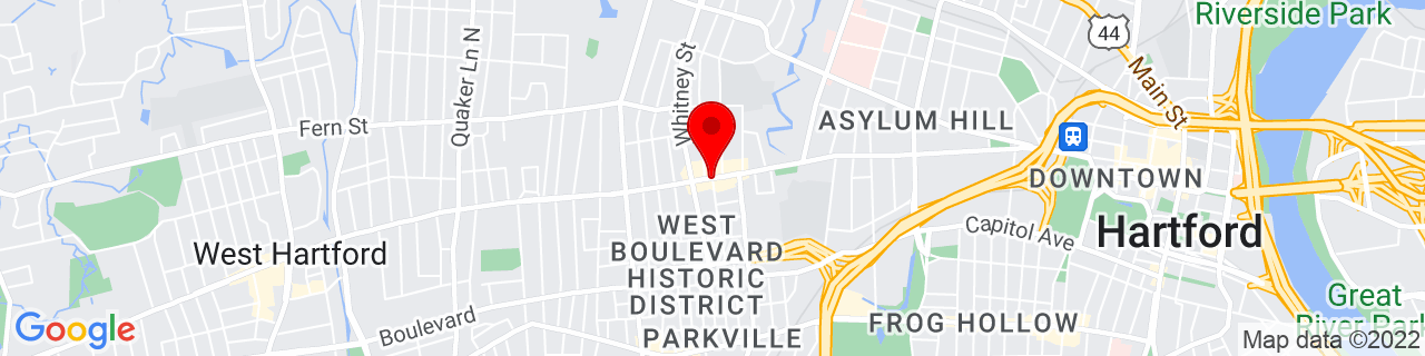 Google Map of 41.7664115, -72.709451
