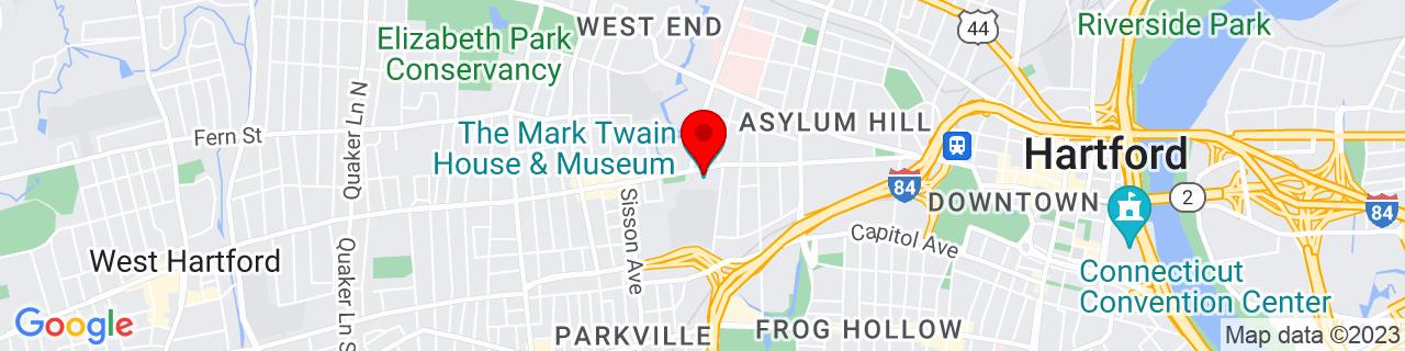 Google Map of 41.7670944, -72.7014355