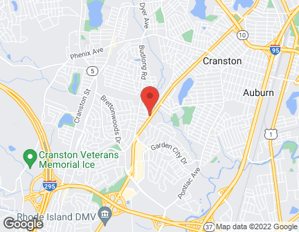 Map of 1177 Reservoir Ave in Cranston