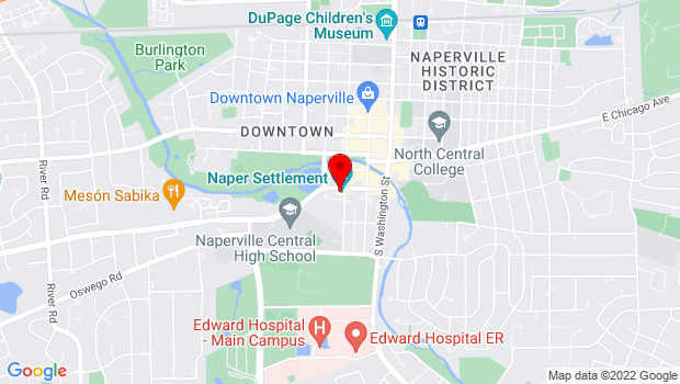 Google Map of 523 S. Webster St., Naperville, IL 60540