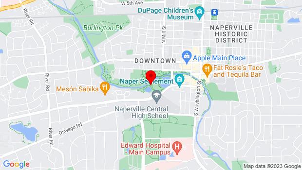 Google Map of 443 Aurora Avenue, Naperville, IL 60540