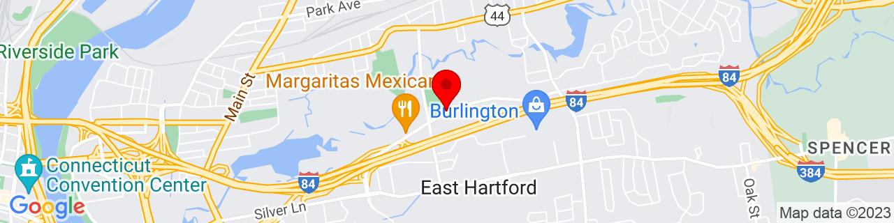 Google Map of 41.77038779999999, -72.6167706