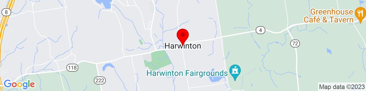 Google Map of 41.7712762, -73.0598438