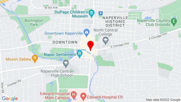 Google Map of 16 West Chicago AVenue, Naperville, IL 60540
