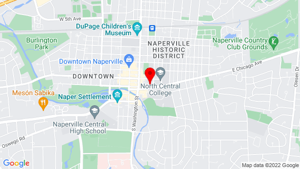 Google Map of 171 E. Chicago Ave., Naperville, IL 60540