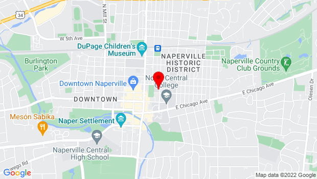 Google Map of 31 South Ellsworth Street, Naperville, IL 60540