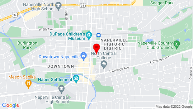 Google Map of 20 North Center Street, Naperville, IL 60540