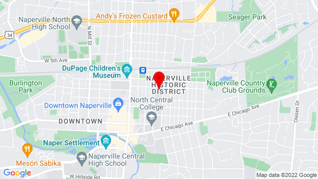 Google Map of 320 East School, Naperville, IL 60540