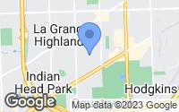 Map of La Grange Highlands, IL