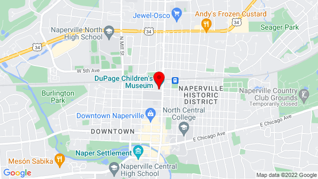 Google Map of 301 N. Washington St., Naperville, IL 60540