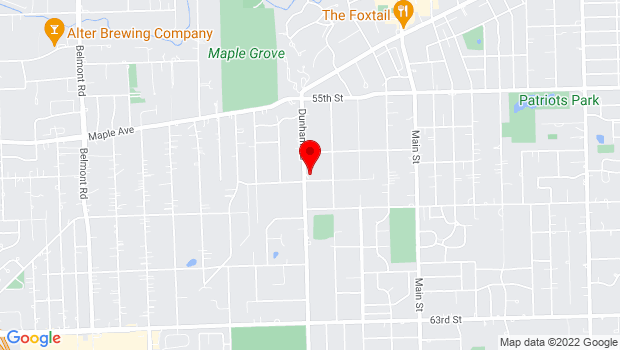 Google Map of 5739 Dunham, Downers Grove, IL 60515