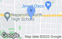 Map of Naperville, IL