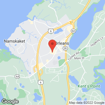 Map of Staples at 136 Route 6A, Orleans, MA 02653