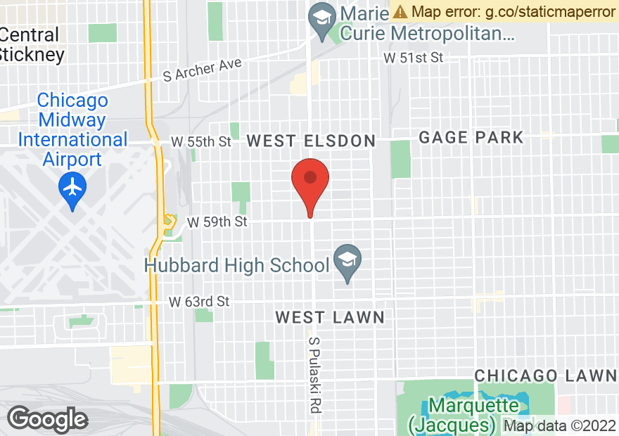 Google Map of 4000 W 59TH ST