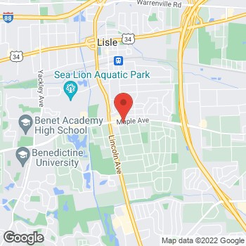 Map of Taco Bell at 1015 Maple Avenue, Lisle, IL 60532