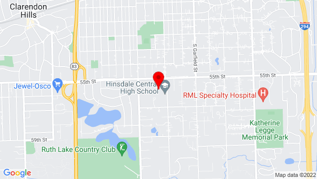 Google Map of 5500 SOUTH GRANT STREET, Hinsdale, IL 60521
