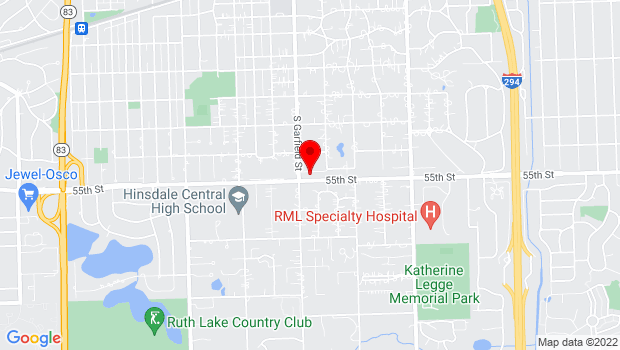 Google Map of 945 S. Garfield, Hinsdale, IL 60521
