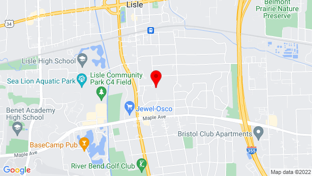 Google Map of 5207 Center Ave., Lisle, IL 60532