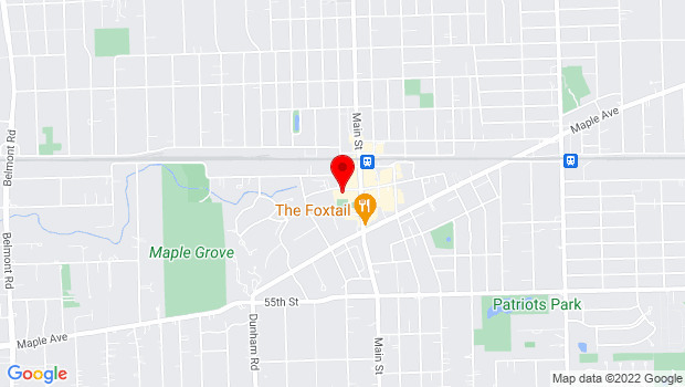 Google Map of 1047 Curtiss Street, Downers Grove, IL 60515