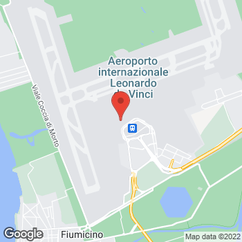 Map of Salvatore Ferragamo at Via dell' Aeroporto di Fiumicino, 320 T3 Ovest, Gate H1/H19, Rome, RM 00050