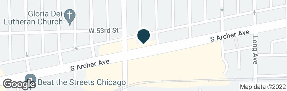 Google Map of5874 S ARCHER AVE