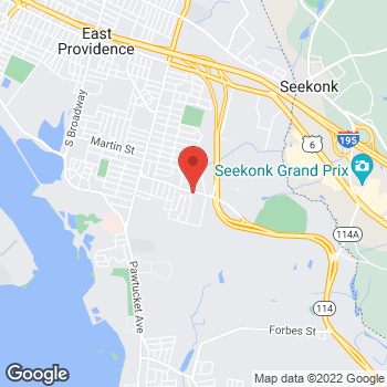Map of Lawrence Cobrin, DPM at 250 Wampanoag Trail, East Providence, RI 02915
