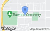 Map of Rawlins, WY