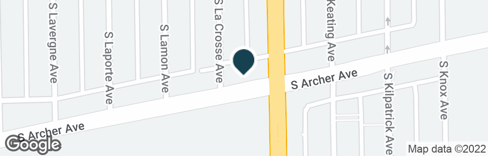 Google Map of5414 S ARCHER AVE