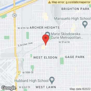 Map of Pulaski Vision Center at 5153 S. Pulaski Rd, Chicago, IL 60632