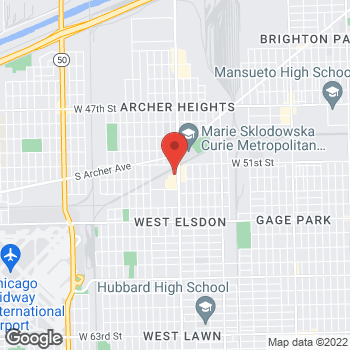 Map of Check `n Go Pulaski Ave. at 5160 S Pulaski Ave., Chicago, IL 60632