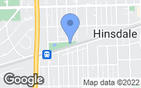 Map of Hinsdale, IL