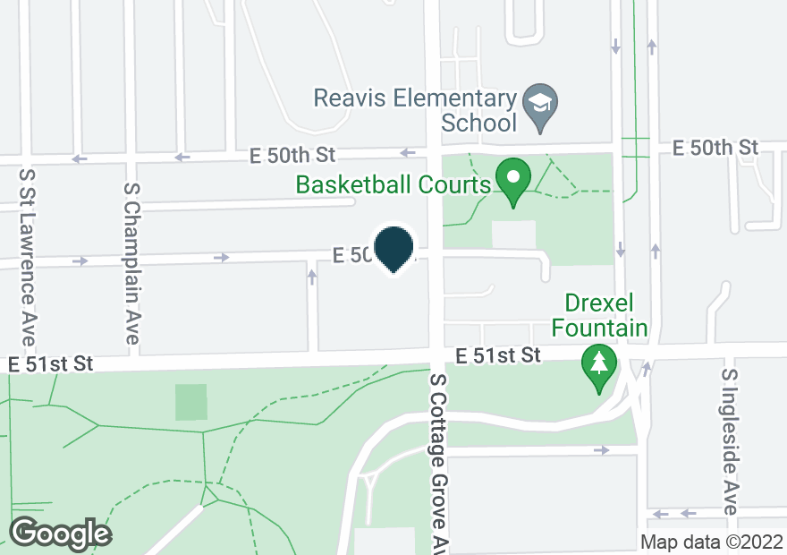 Google Map of5036 S COTTAGE GROVE AVE