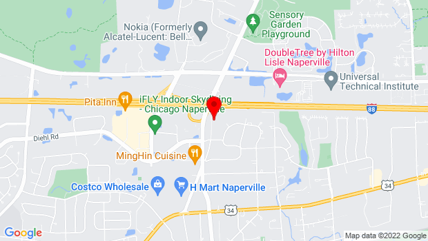 Google Map of 1828 Old Naperville Rd, Naperville, IL 60563