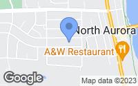 Map of North Aurora, IL