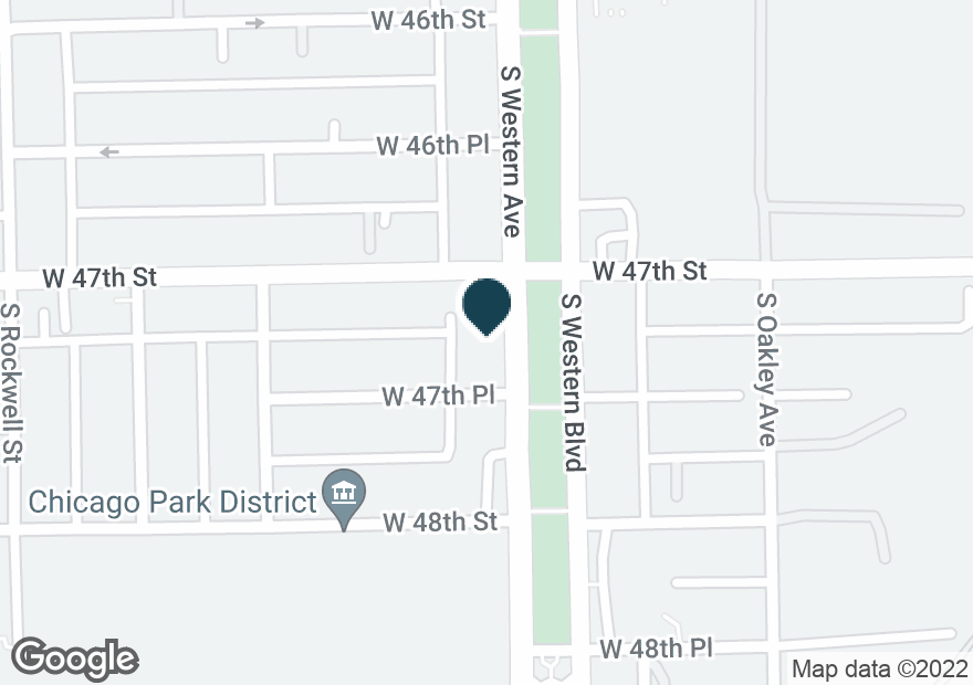 Google Map of4710 S WESTERN AVE