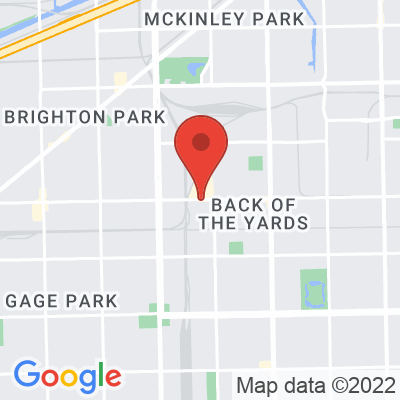 Map showing Back of the Yards Coffee
