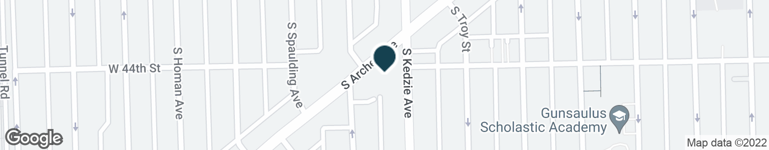 Google Map of4385 S ARCHER AVE