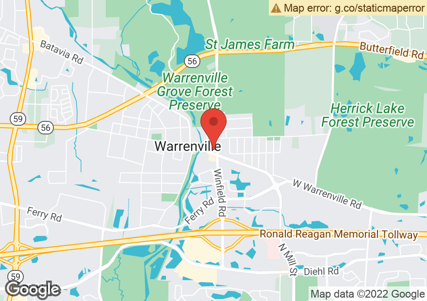 Google Map of 28W104 WARRENVILLE RD